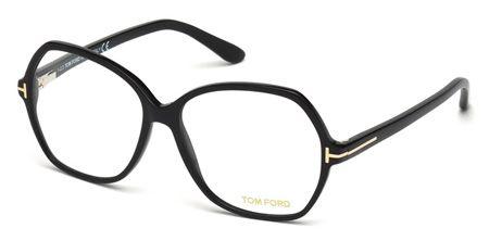Lunettes de vue TOM FORD FT 5300 001 57/14 Femme noir brillant Papillon Cerclée…