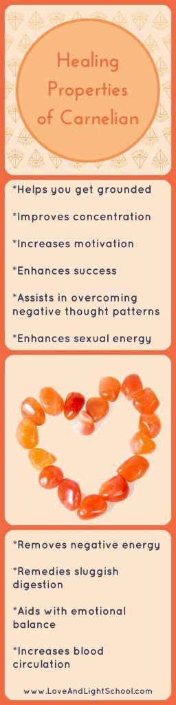 Pin It! Healing Properties of Carnelian - Love & Light School of Crystal Therapy
