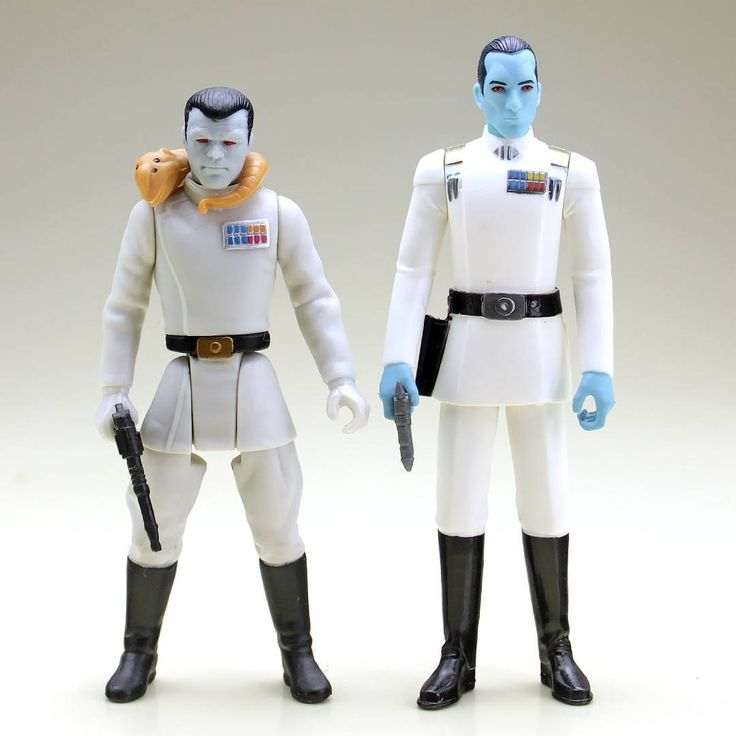 Star Wars action figure versions of Thrawn, 1998 and 2017 - Star Wars New Zealand