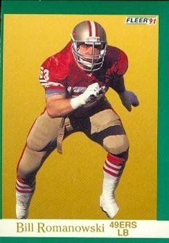 Bill Romanowski Football Card (San Francisco 49ers) 1991 Fleer #364 by Hall of Fame Memorabilia. $30.95. Bill Romanowski Football Card (San Francisco 49ers) 1991 Fleer #364. Signed items come fully certified with Certificate of Authenticity and tamper-evident hologram.