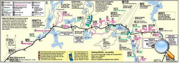 Algonquin Park Highway 60 Corridor Map