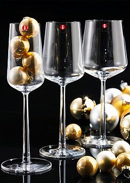 Iitala Essence champagne glasses for the holidays http://grshop.com/iittala-essence-set-of-two-champagne-flutes.html