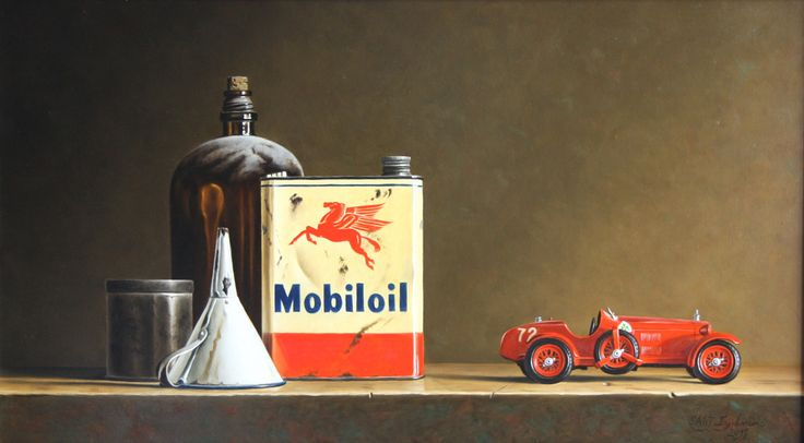 Stefaan Eyckmans | OIL | Mobiloil Tin and Toy Car