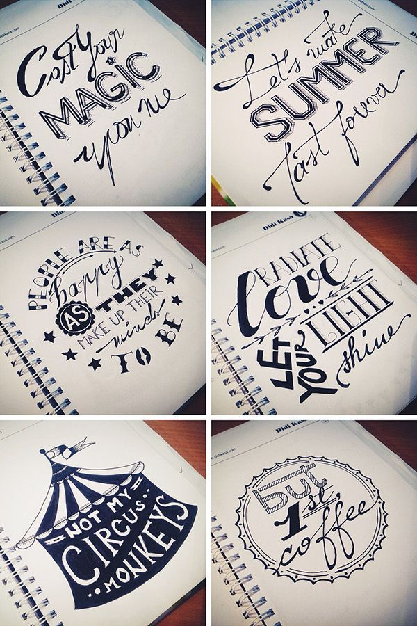 Hand-drawn Lettering Set on Behance