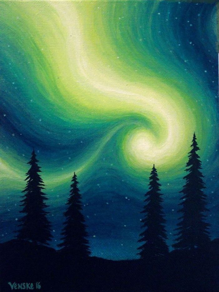 easy paint beginners very things painting acrylic canvas paintings aesthetic watercolor sky night simple 1001 inspiration light feminatalk clouds dark