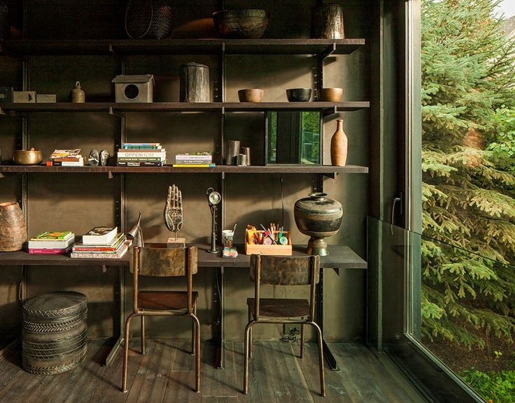 //Rustic Bedrooms, Offices Spaces, Modern Rustic, Work Spaces, Workspaces, House, Bedrooms Decor, Home Offices, Aspen