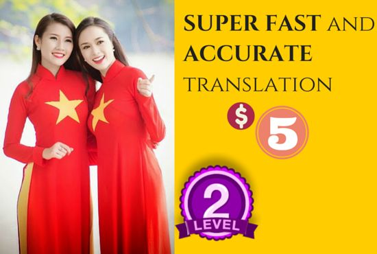 translate English to Vietnamese in a FEW Hours, Extra Fast by dohuyngoc