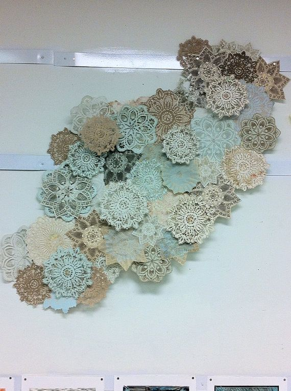 Handmade Paper Doilie Wall Sculpture by HannahMaeBarker on Etsy,