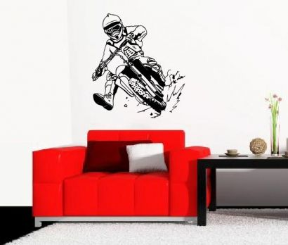 Perfect  Motorcross Wandtattoo Strassenmaschine Wandsticker