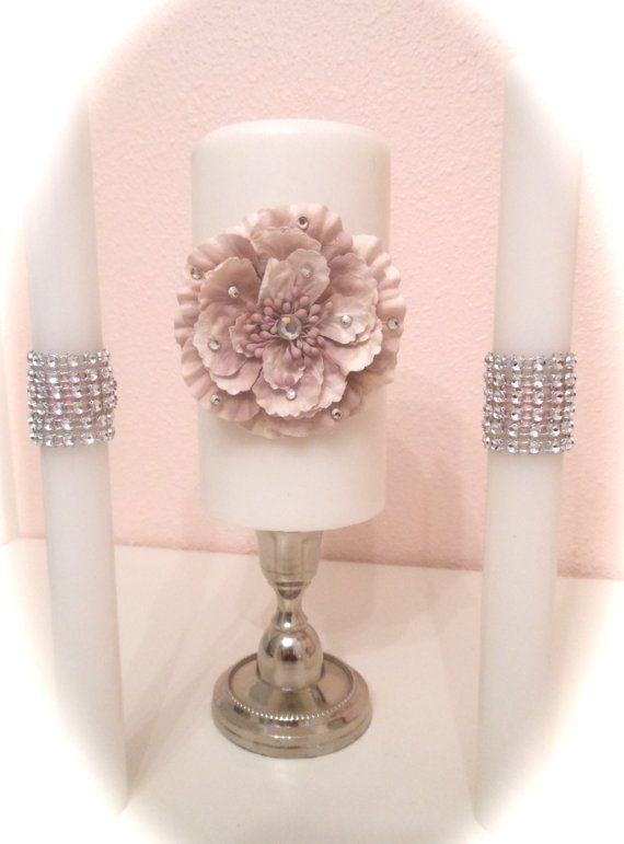 Romantic rose pale paper rosette