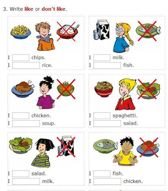 English    is    FUNtastic: Likes and dislikes - food: video & several interac...