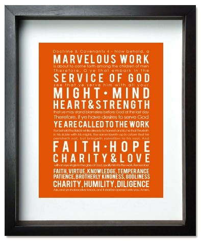 Doctrine & Covenants 4  LDS Missionary Print by MomoPrints on Etsy, $8.00