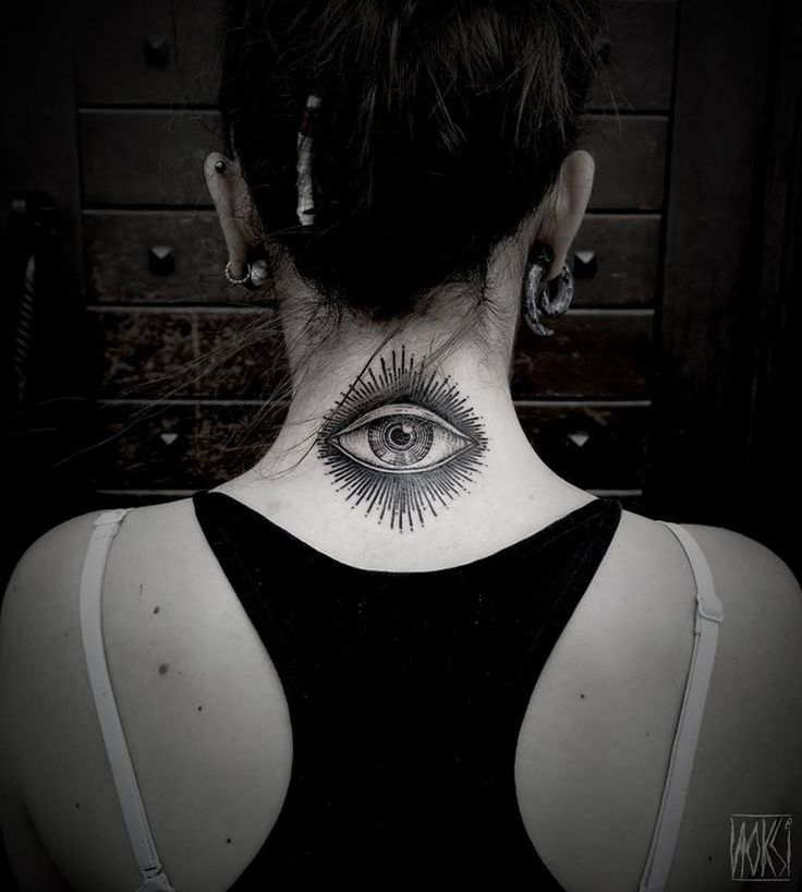 http://tattooideas247.com/eye-neck/ Eye Neck Tattoo #Blackwork, #Eye, #Neck, #Noksi