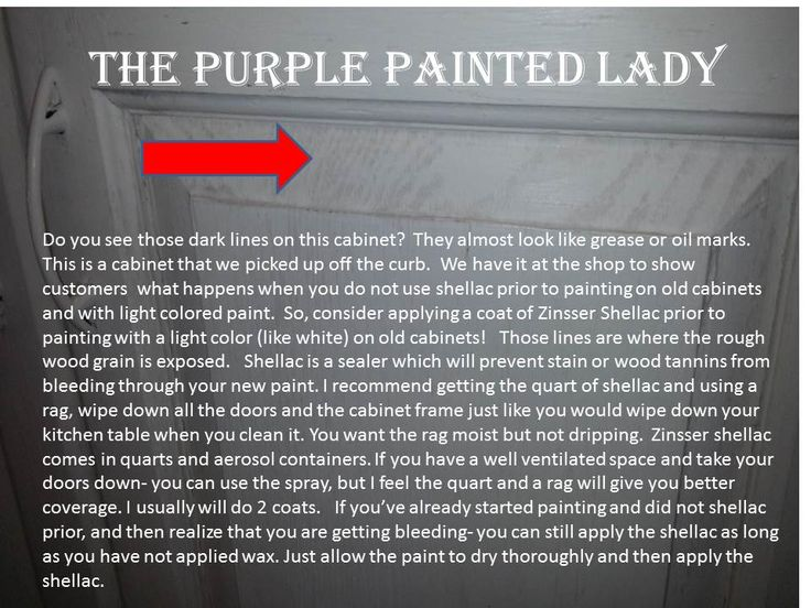 When to use shellac on kitchen cabinets ...bleeding, stain, tannin - Visit The Purple Painted Lady for help!