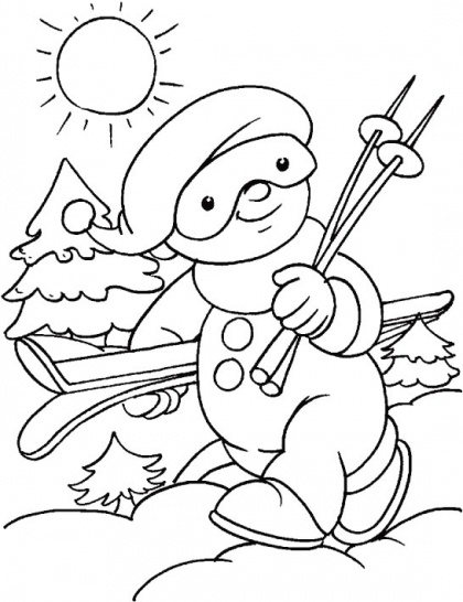 9 best images about Winter Coloring Pages on Pinterest
