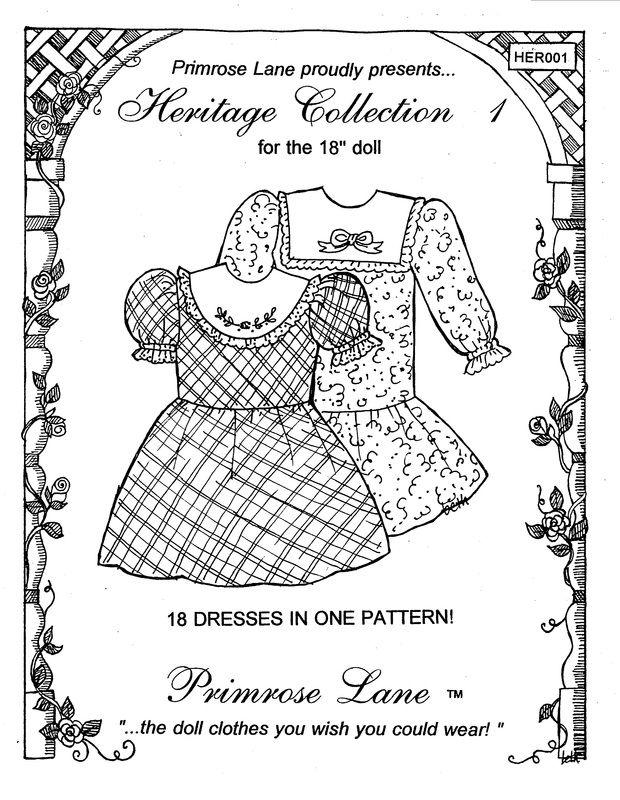 51 best 18 inch doll patterns PrimRose Lane images on