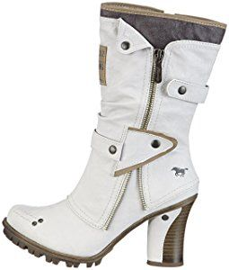 Mustang Stiefelette, Women's Boots, White (100 Off-White), 4.5 UK (37 EU): Amazon.co.uk: Shoes & Bags