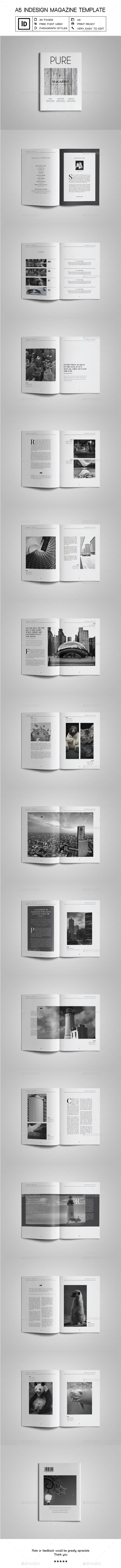 A5 Indesign Magazine Template  — InDesign • Only available here ➝ https://graphicriver.net/item/a5-indesign-magazine-template/17709945?ref=pxcr