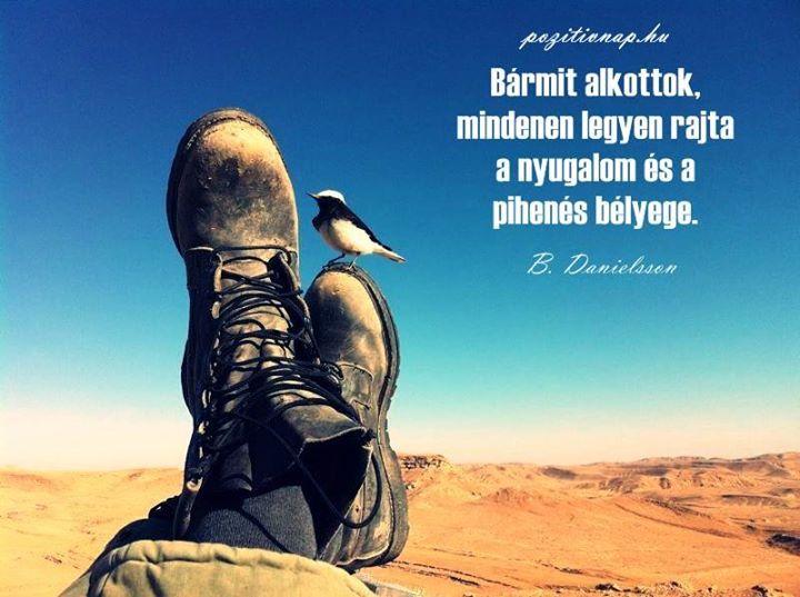 Bengt Danielsson gondolata a nyugalomról. A kép forrása: Pozitív Nap # Facebook