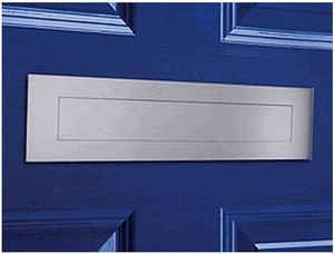 Satin Brushed Stainless Steel Contemporary Door Mail Slot (small) 11.8  sc 1 st  Pinterest : mailbox door - pezcame.com