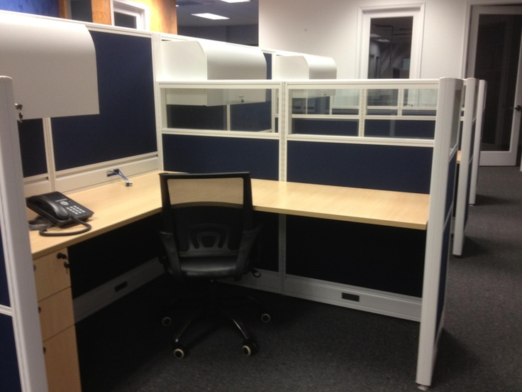 Fabric Office Partitions : Emerald cubicles size shown custom trim white fabric