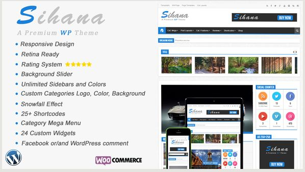 Sihana - Responsive News, Magazine and Blog WordPress Theme