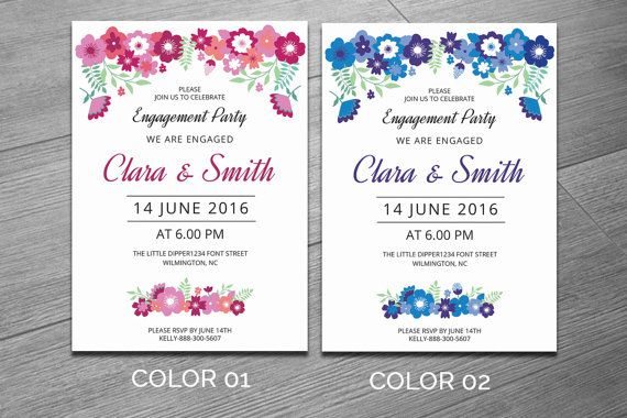 21 best 20+ Engagement Invitation Template Word, InDesign and PSD - engagement invitation template