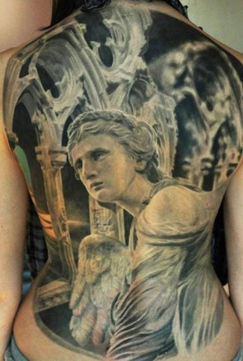 246 best images about spiritual tattoos on pinterest for Badass angel tattoos