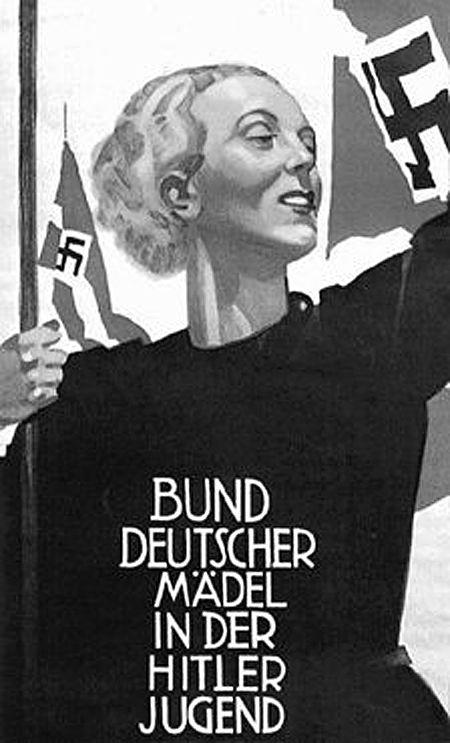 HitlerJugend propaganda poster.: Bund Deutscher, Propaganda Posters, German Posters, Picture-Black Posters, Wwii, Nazi Germany, German Girls, Hitler Youth, Third Reich