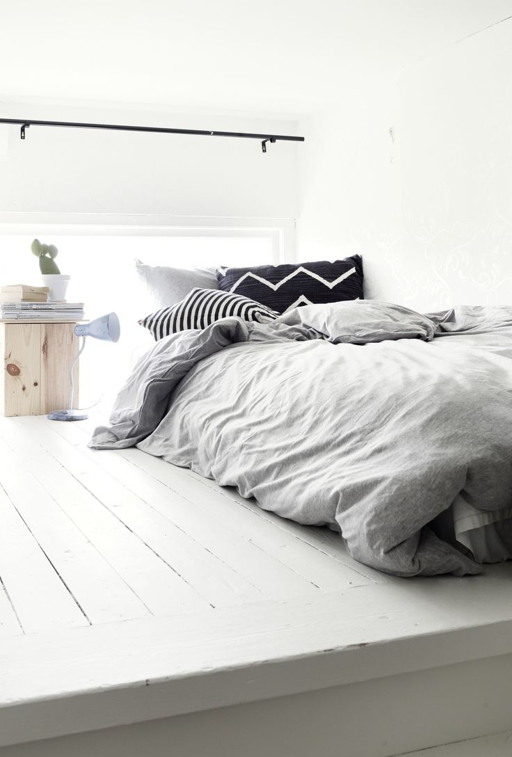 * Love this look. The duvet reminds me of: http://www.naturalbedcompany.co.uk/shop/bedding/chambray-duvet-cover-sets/