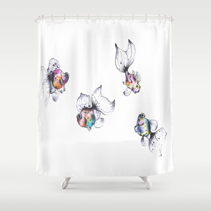 Buy Goldfish Dreams Shower Curtain by snail_made. Worldwide shipping available at Society6.com. Just one of millions of high quality products available.