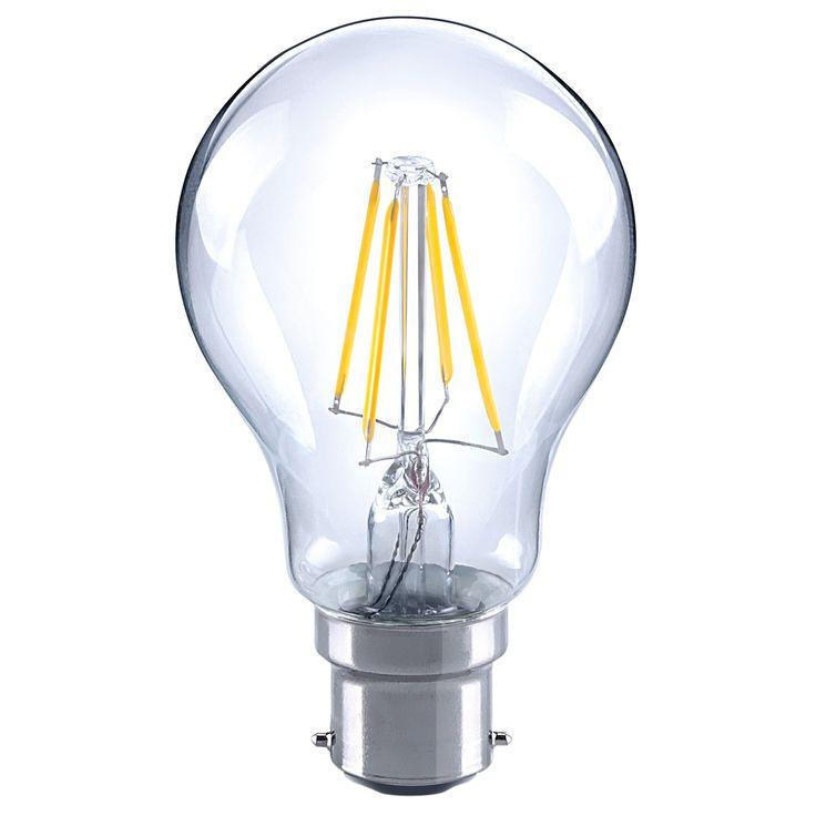Diall Bayonet Cap (B22) 4W LED Filament GLS Light Bulb | Departments | DIY at B&Q