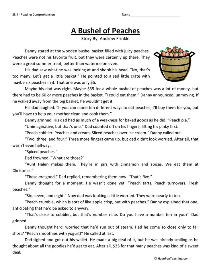 Fourth Grade Reading Comprehension Reading