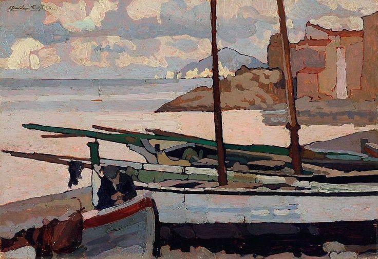 Llewelyn Lloyd (1879 - 1949, Italian Painter) Giorno di Scirocco