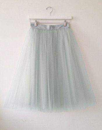 """30"""" Gretta Tulle Skirt - Seafoam   alexandra grecco"""