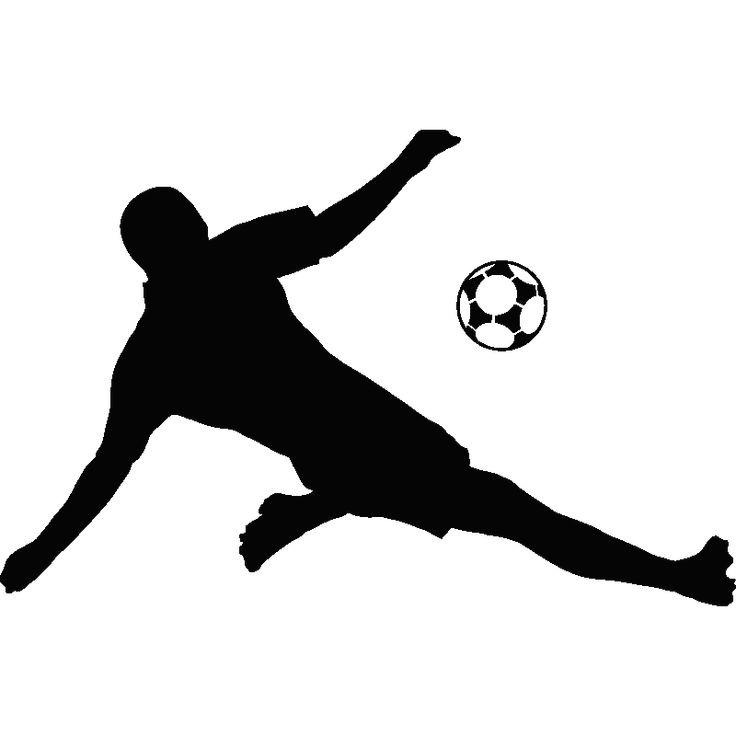 Muurstickers sport en voetbal - Muursticker voetbal / soccer player 3 | Ambiance-live.com