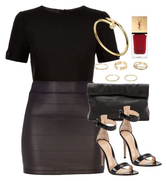 """""""Style #10368"""" by vany-alvarado ❤ liked on Polyvore featuring Ted Baker, River Island, Marie Turnor, Gianvito Rossi and Yves Saint Laurent"""