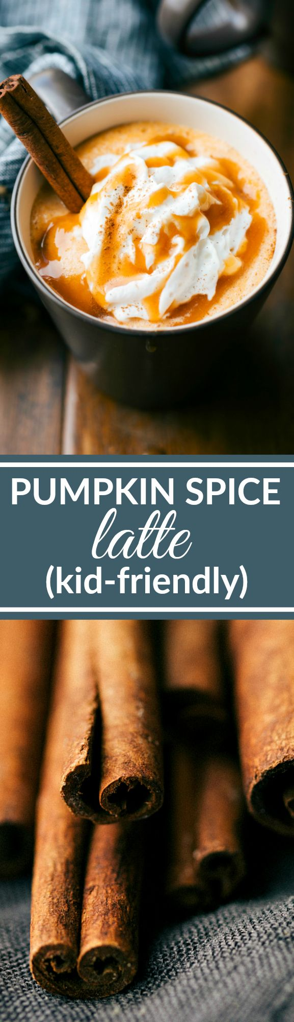 This delicious and easy to make kid-friendly pumpkin spice latte skips out on the coffee but adds the fun! Make the step-by-step recipe for the whole family this fall!