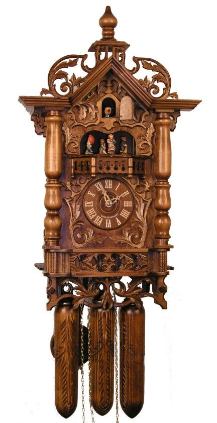 A Real Cuckoo Clock With The Pull Down Pinecones And All