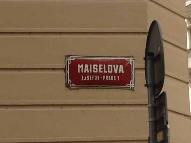 Maiselova street, the heart of Jewish Quarter in Prague
