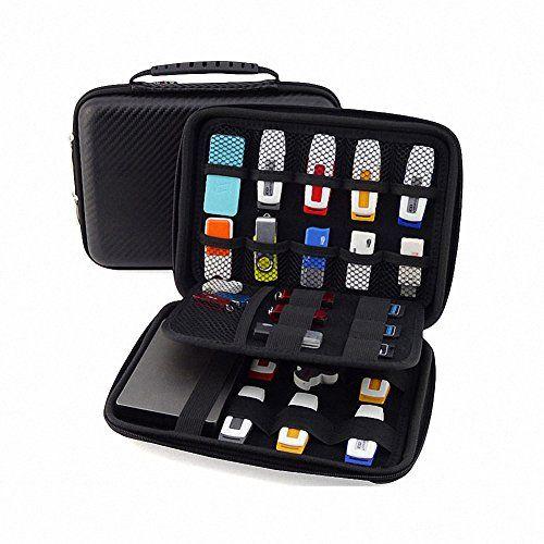 Deal Elvam Eva Shockproof Waterproof Portable Hard Drive Case Bag Cable Usb Flash Bank Gps And Digital
