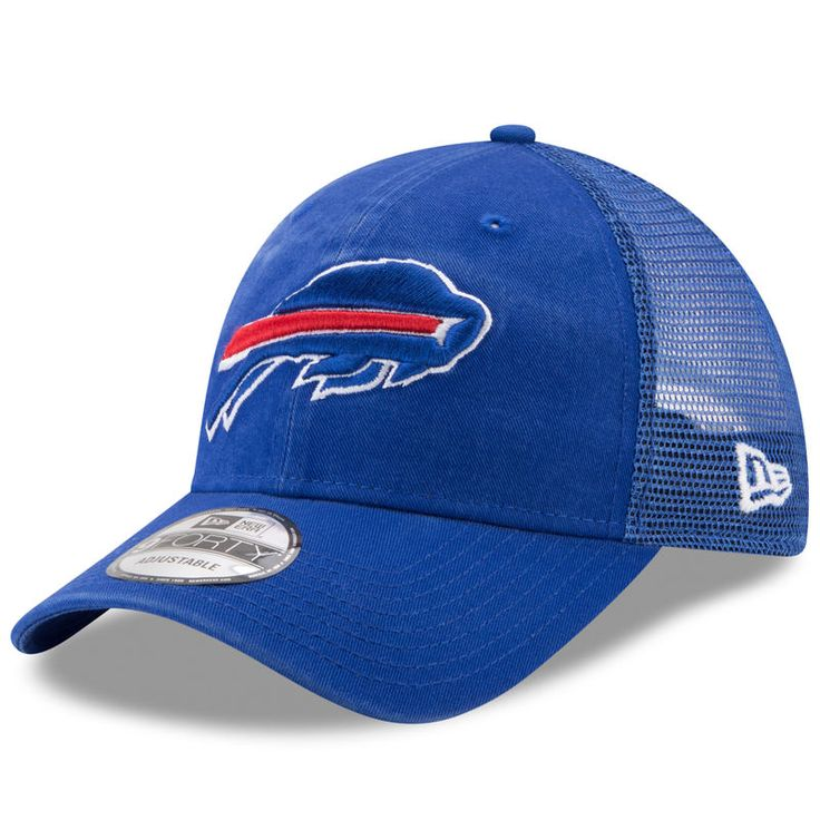 Buffalo Bills New Era Trucker Washed 9FORTY Adjustable Hat - Royal
