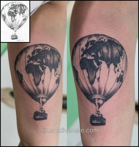 Images of planisfero pictures to pin on pinterest tattooskid tattoo tatuaggio mongolfiera hot air balloon gumiabroncs Gallery