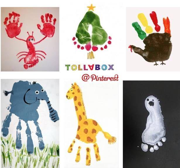 Hand und Fuß Malereien