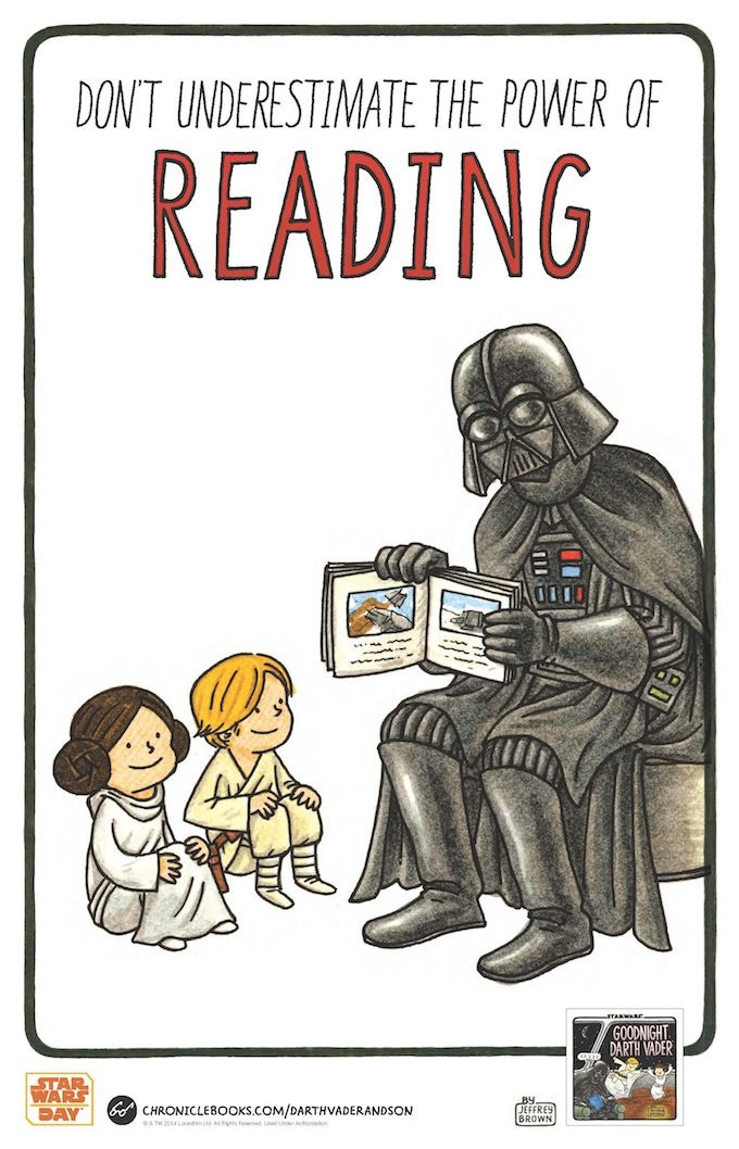 Don't underestimate the power of reading… Goodnight Darth Vader™ is coming to a galaxy near you July 2014!