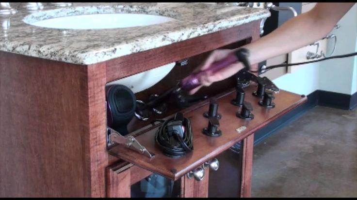 Vanity Valet Secret (Blow dryer, curling iron, flat iron storage...