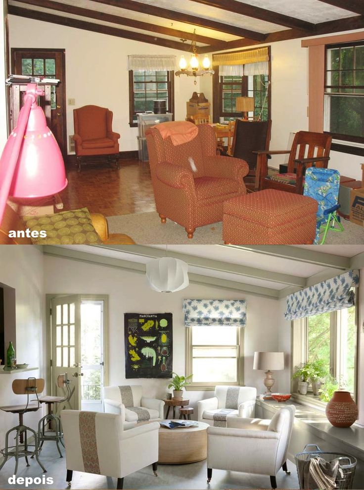 Sala antes e depois http://www.countryliving.com/homes/renovation-and-remodeling/before-and-after-home-makeovers