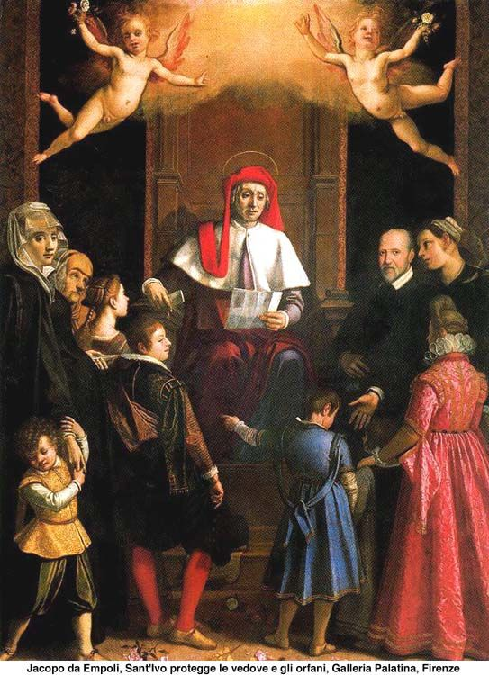 San Ivo (St Yves), Jacopo da Empoli, Galeria Palatina, Florence, Italie