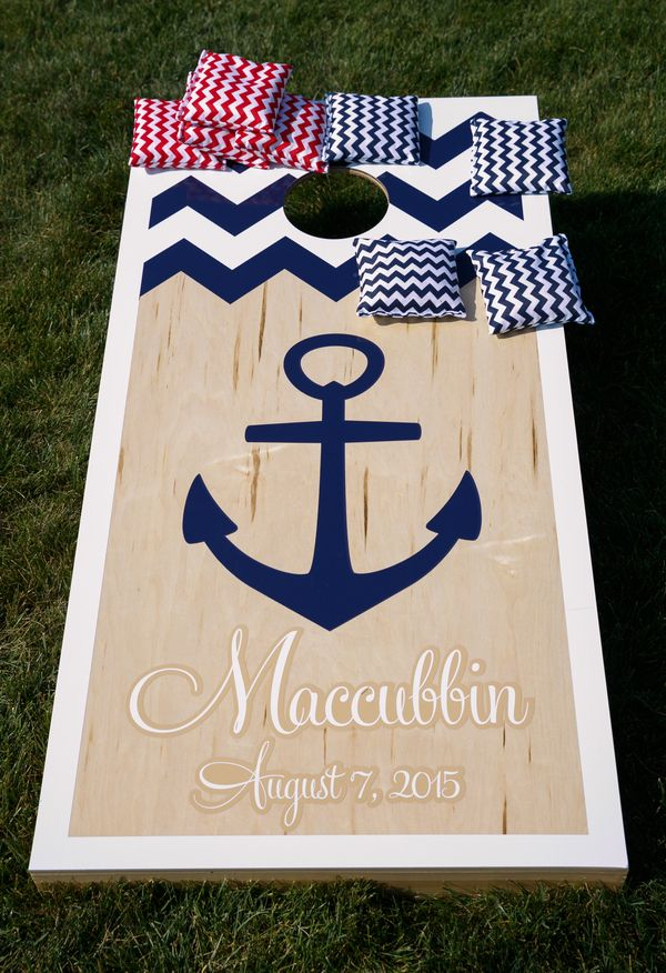 Nautical inspiration, anchor, reception games // Candace Jeffery Photography