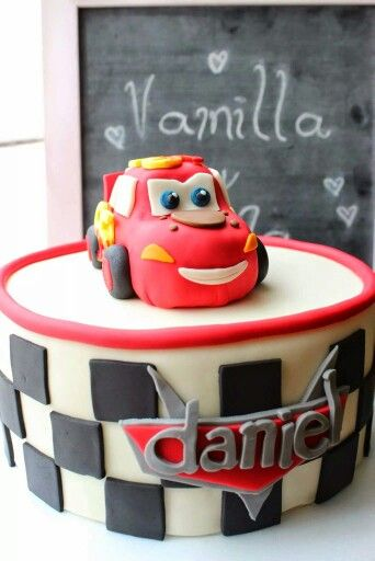 #Cars #birthday cake, 100% #edible including #Ligthning #McQueen we made it for a special #boy!